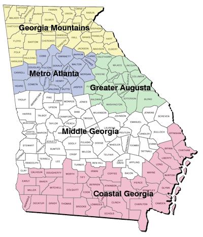 Georgia Regional Map