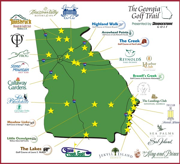 Georgia Golf And Travel The Georgia Golf Trail - Georgia map lakes